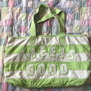 Large life is good tote bag